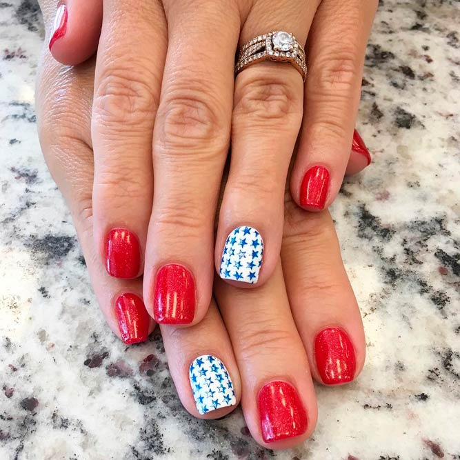 Sweet Stars Accent For 4th Of July