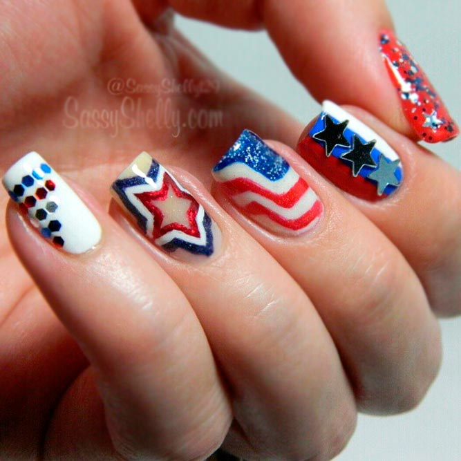 Sparkly Stars and Stripes