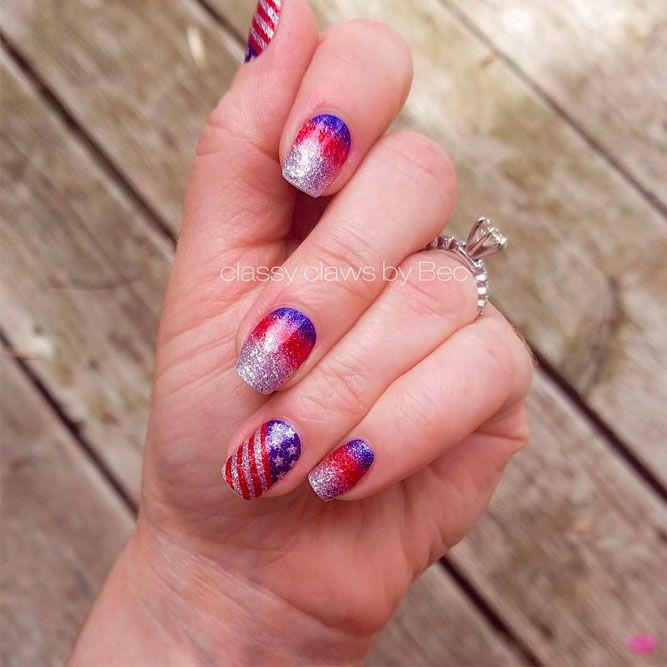 Total Glitter Cool Nail Designs