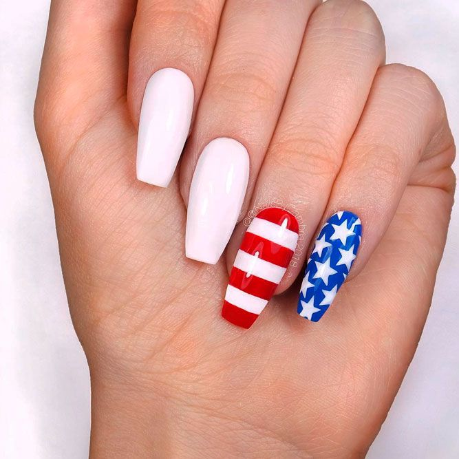 American Flag With Elegant White Color