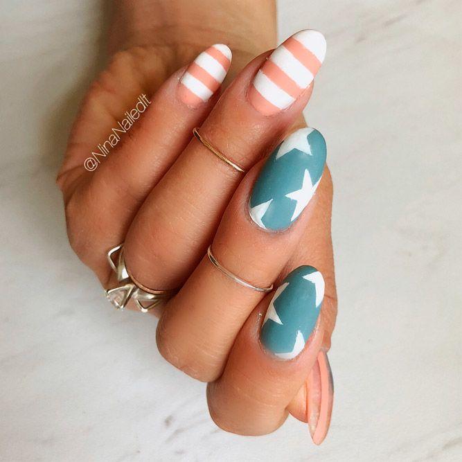 Pastel Matte Cool Nail Designs