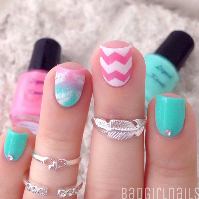 Stylish Geometric Nails Ideas picture 3