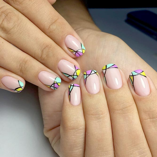 Bright Designs for Short French Manicure picture 1
