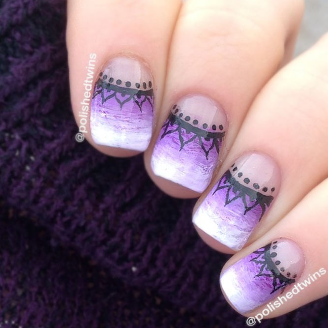 Purple and White Ombre