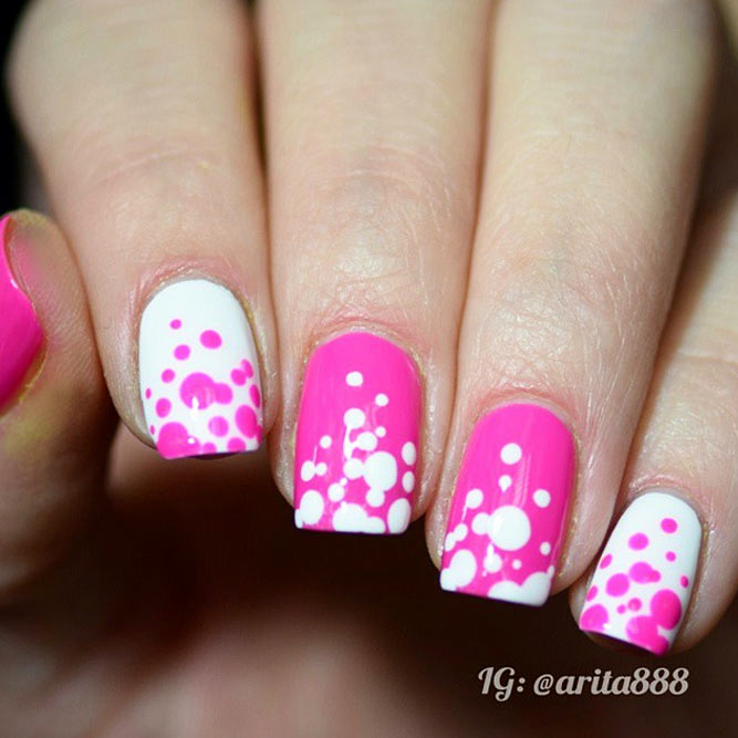 Pink Dotted Nails for Girly Look picture 3