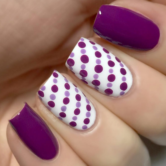 Lovely Nail Art with Color Combo Dots picture 3