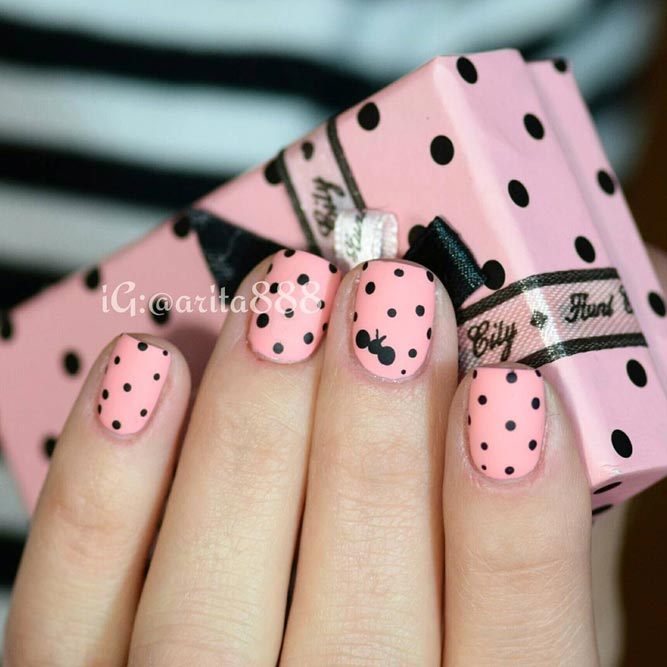 Pink Dotted Nails for Girly Look picture 1