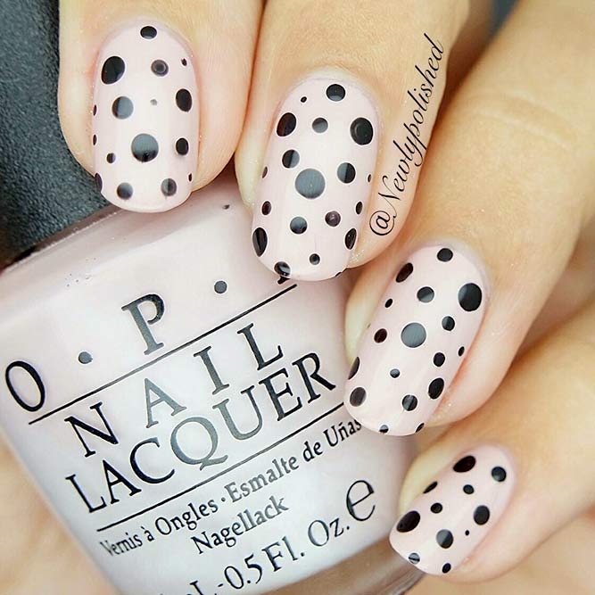 Dotted Designs for Nude Nails picture 2