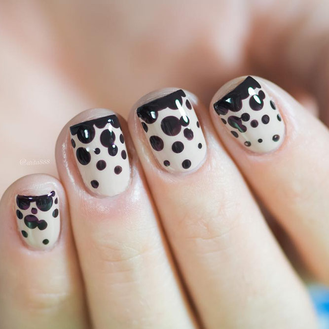 Nail Tips with Cute Dots picture 3