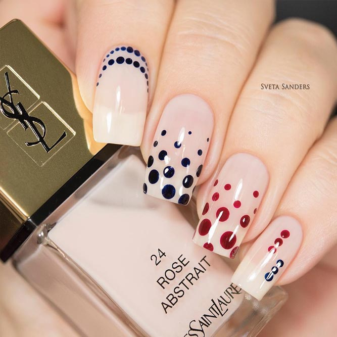Dotted Designs for Nude Nails picture 1