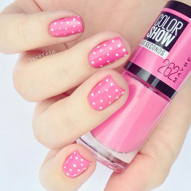 Pink Dotted Nails for Girly Look picture 2