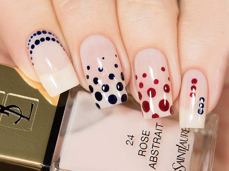 Nice Nails Designs with Cute Dots