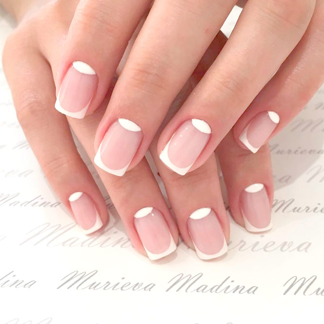 Charming Reverse Square French Mani picture 2