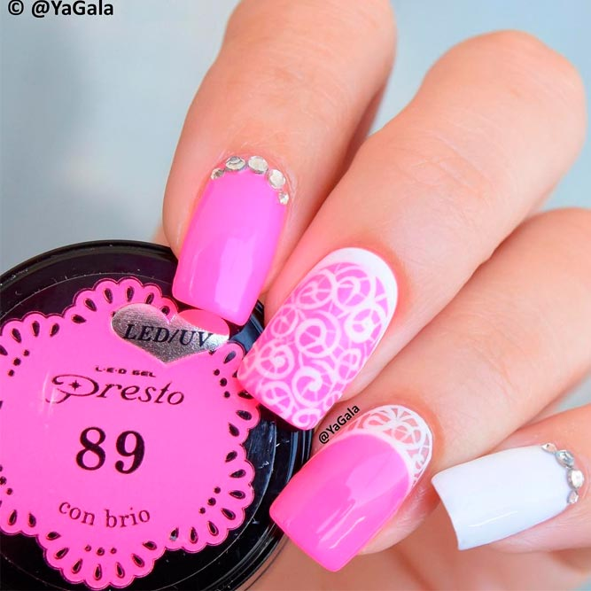 Сute Pink Reverse French Nails picture 2