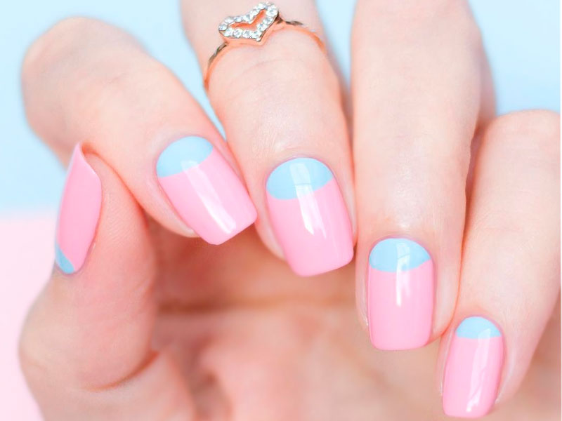 Cool Reverse French Manicure Designs | NailDesignsJournal.com