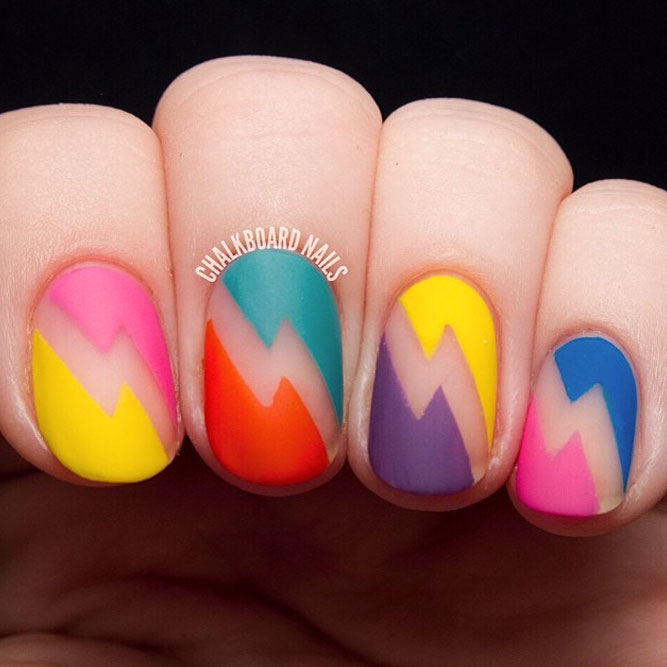 Bold And Bright Combo For Round Nails picture 1