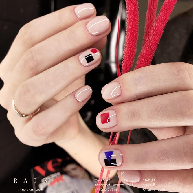 Bold And Bright Combo For Round Nails picture 3
