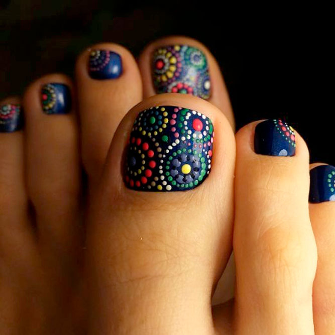 Dark Toe Nail Designs picture 3