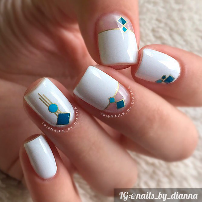 Pretty Square Acrylic Nails picture 2
