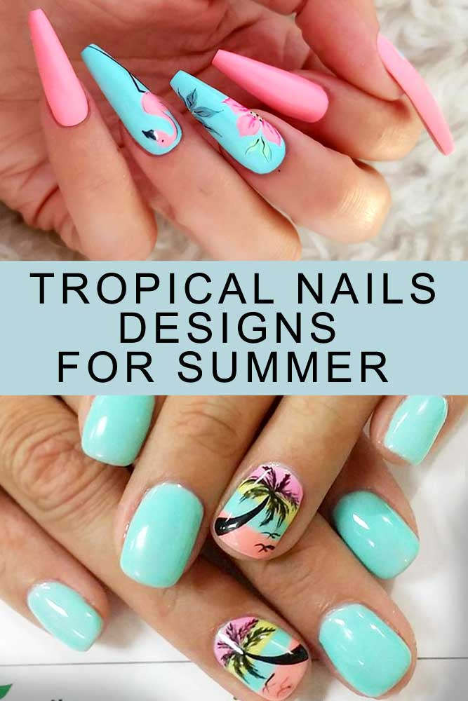 Fresh Tropical Nails Come Out To Play Naildesignsjournal Com