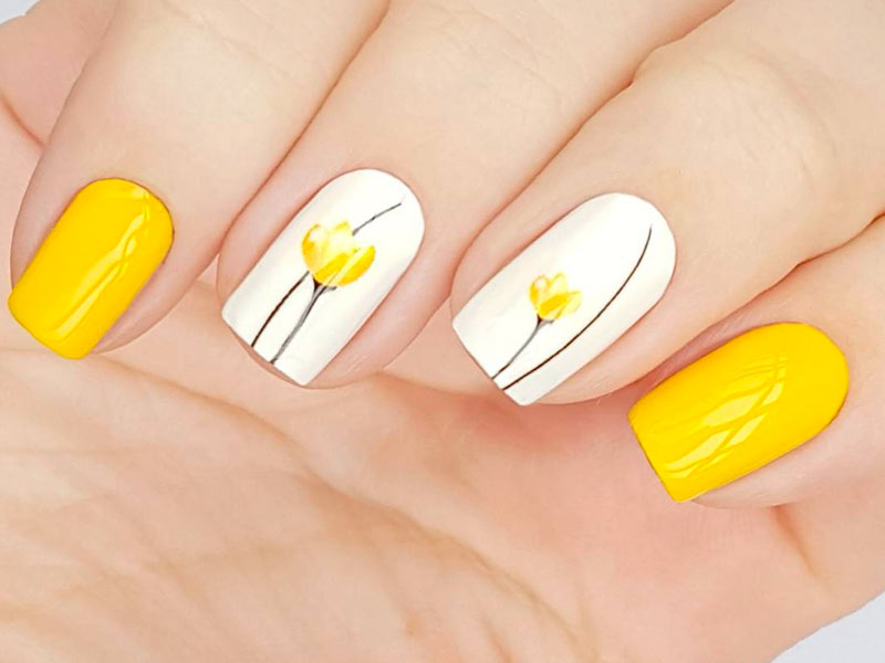 Yellow Nails For The Hottest Summer | NailDesignsJournal.com