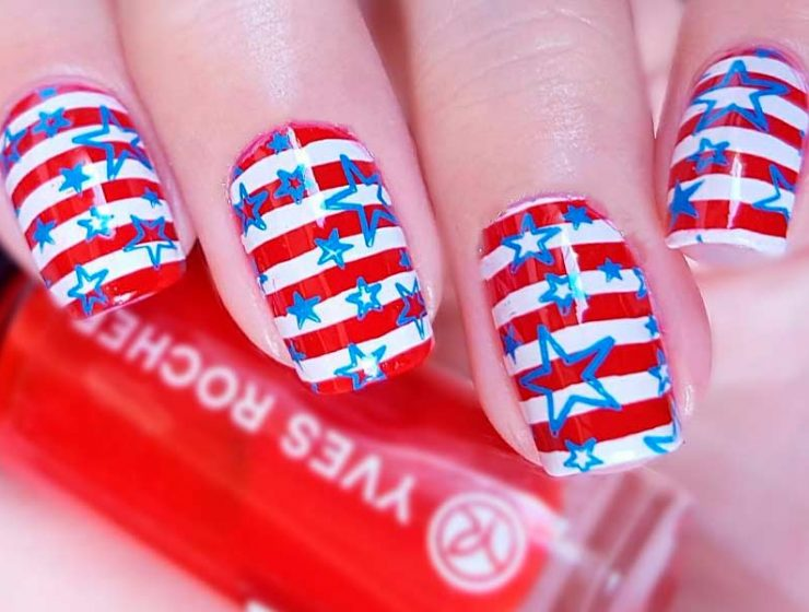 Theme-Oriented 4th of July Nails Designs