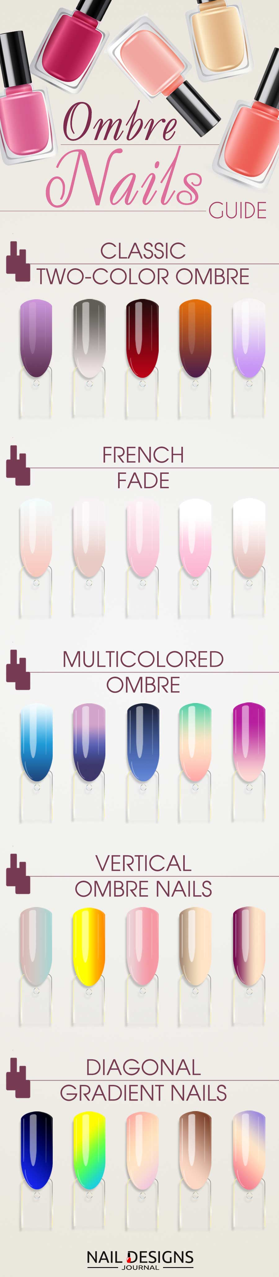 Colorful Combinations for Ombre Nails For Any Occasion