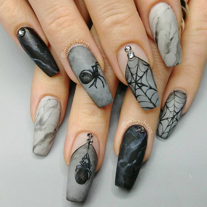 Best Coffin Shaped Nails | NailDesignsJournal.com