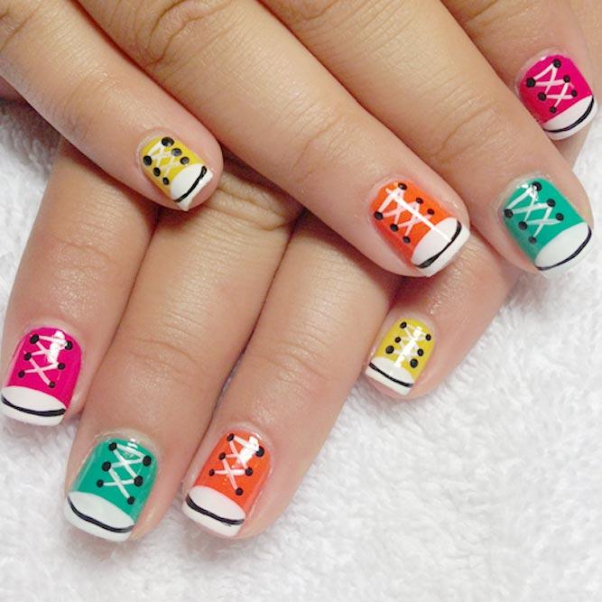 Nail Art Couture Converse Nail Art: Perfect Cool Nail Designs Ideas