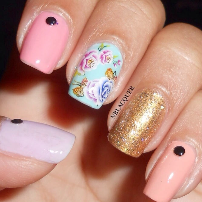 Pastel Roses with a Pop