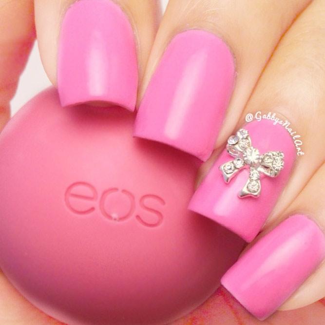 Bow Pink Nails