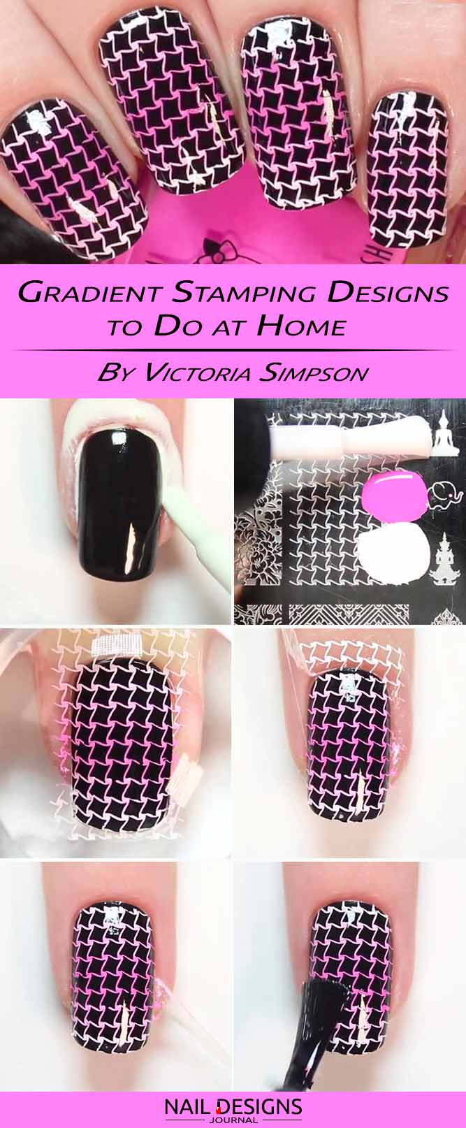 Gradient Stamping Designs to Do at Home