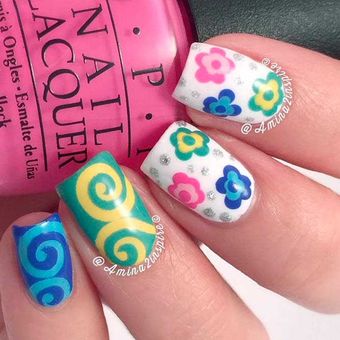 Bright Colorful Nail Art picture 2