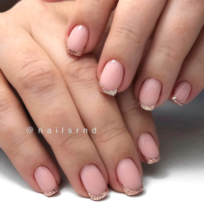Trendy French For Short Nails