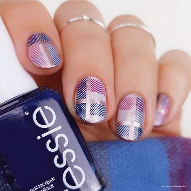 Stylish And Unique Plaid Nail Art