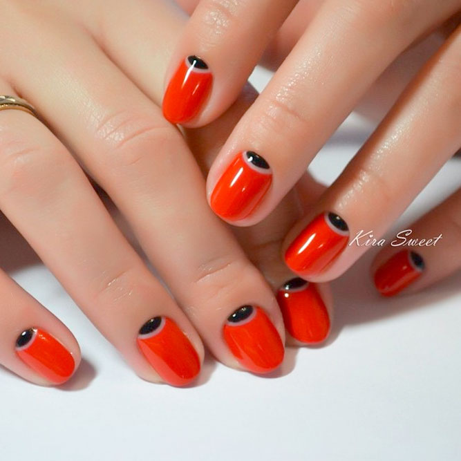 Red Jeweled Mani