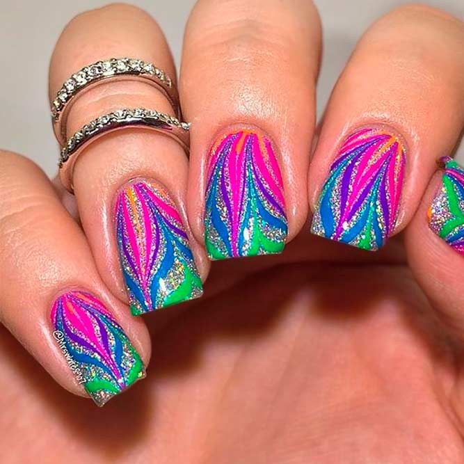 Bright Colorful Nail Art picture 1