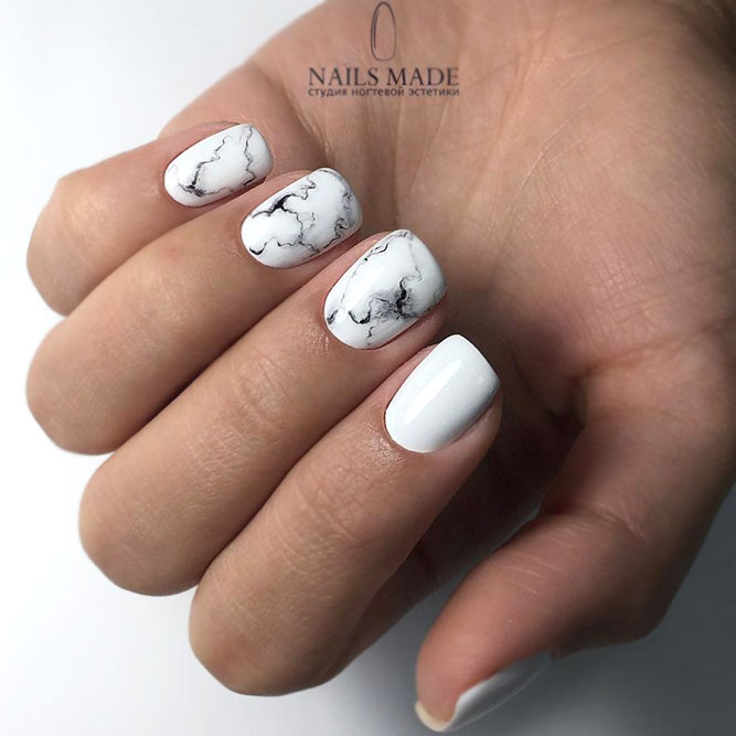 Marble Nail Designs For Short Nails