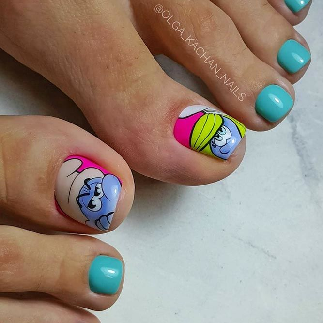 Sweet Cartoon Nail Art Designs