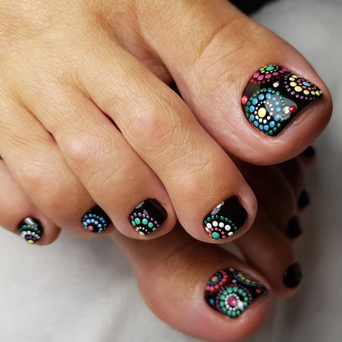 Dark Toe Nails Art Ideas picture 2