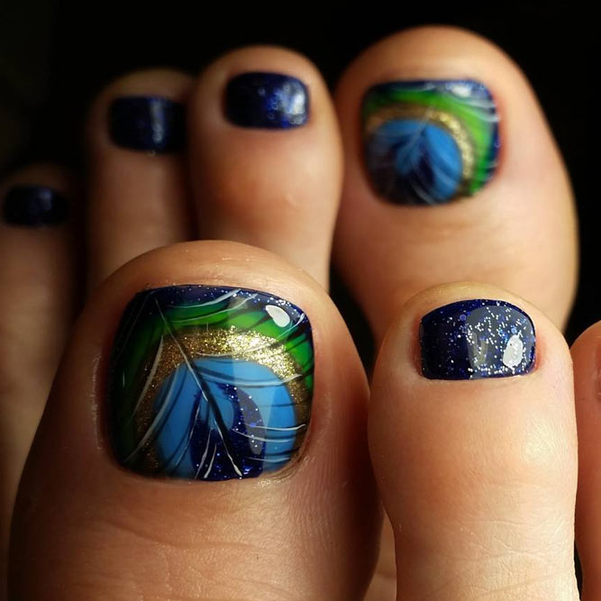 Dark Toe Nails Art Ideas picture 3