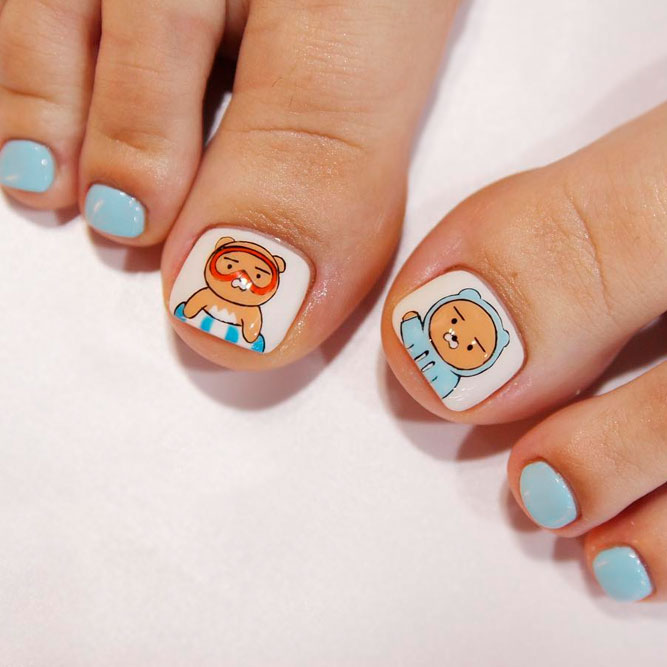 Funny Cartoon Nail Art Designs picture 2