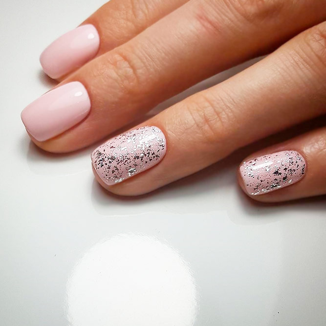 Sweety Nude Pink Short Nails picture 2