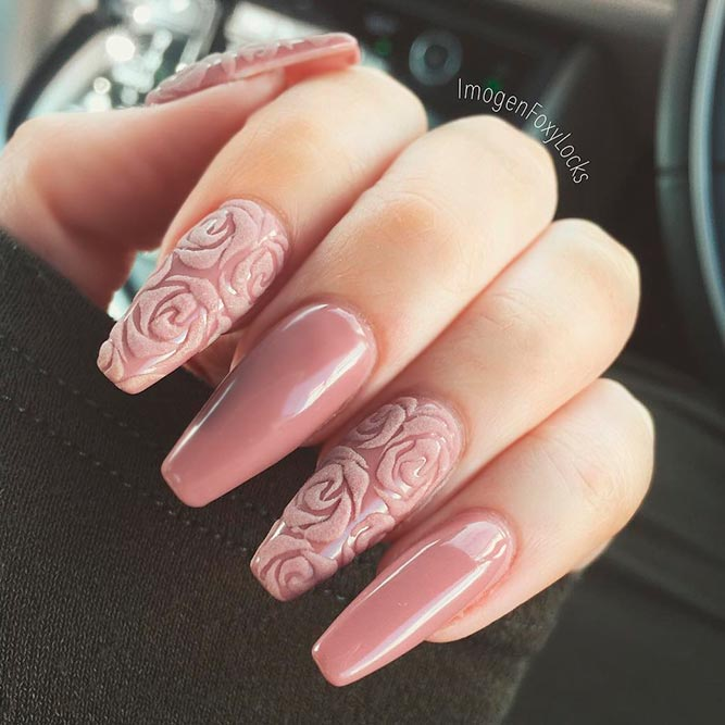 Amazing Nail Designs with Flower Art picture 2