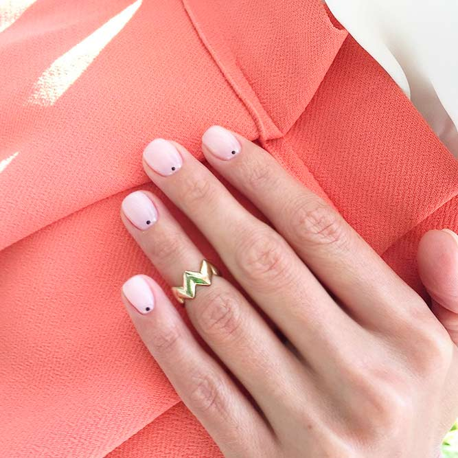 Sweety Nude Pink Short Nails picture 1