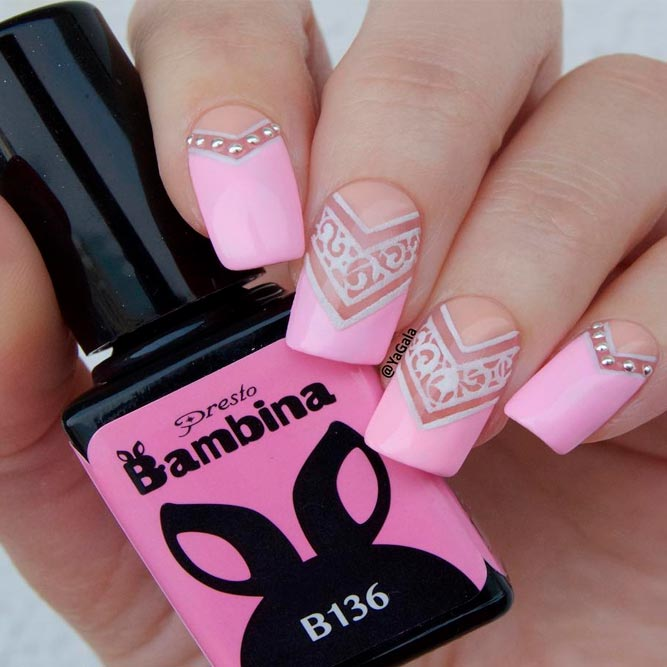 Lovely Pink Nail Art Ideas