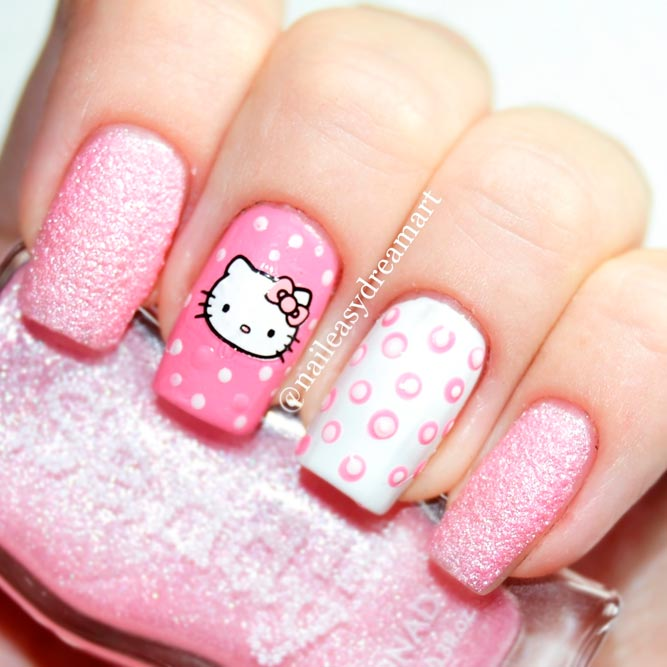 Stylish Pink And White Nails | Naildesignsjournal.com