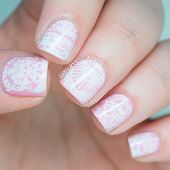 Pink and White Lace
