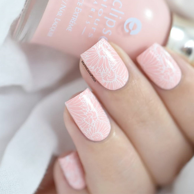 Stylish Pink And White Nails Naildesignsjournal Com