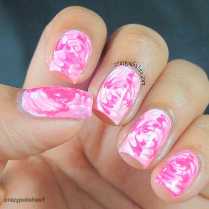 Pink and White Swirls